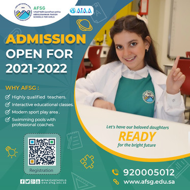 Admission Open for 2021 - 2022