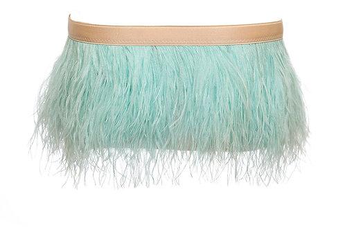 Trudi Ostrich Feather Mini Skirt