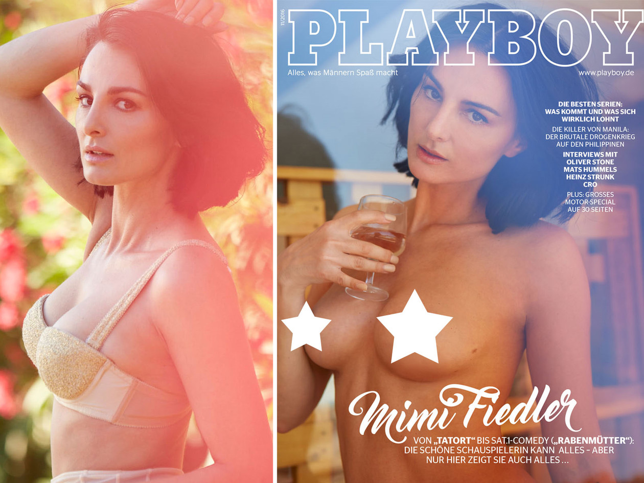 Actress Mimi Fiedler in German Playboy