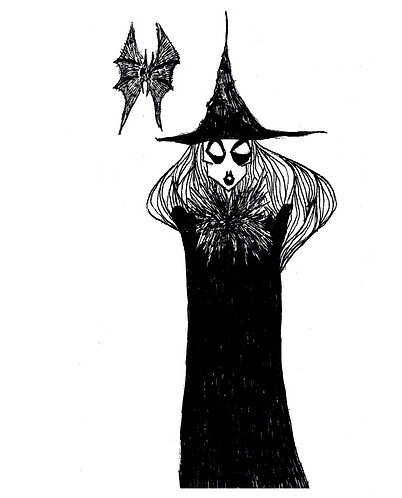 THE WITCH - carte postale