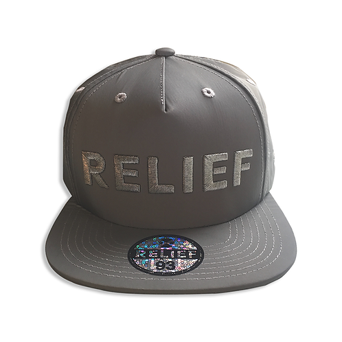Reflective Relief Snapback (Silver)