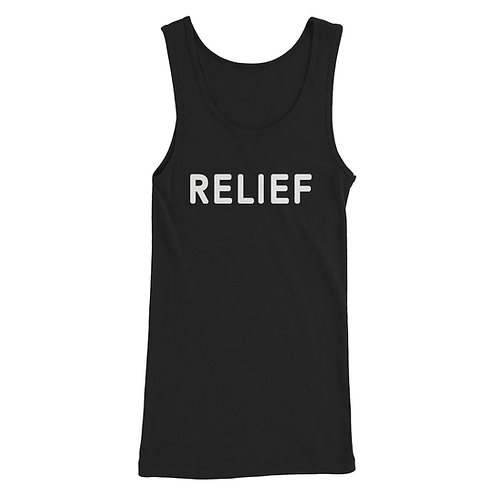 Women's Relief Text Tank