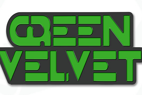 Green Velvet Logo Pin