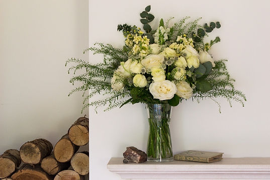 Luxury white and green flowers