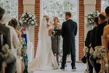 Summer wedding at Great Fosters, Surrey