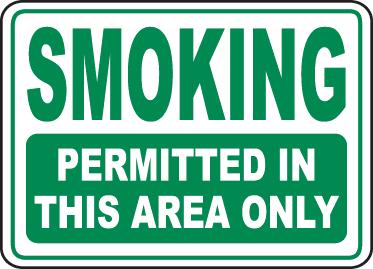 smoking not prohibited