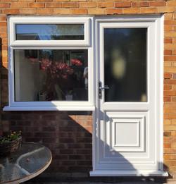 Flag frame window Wigan