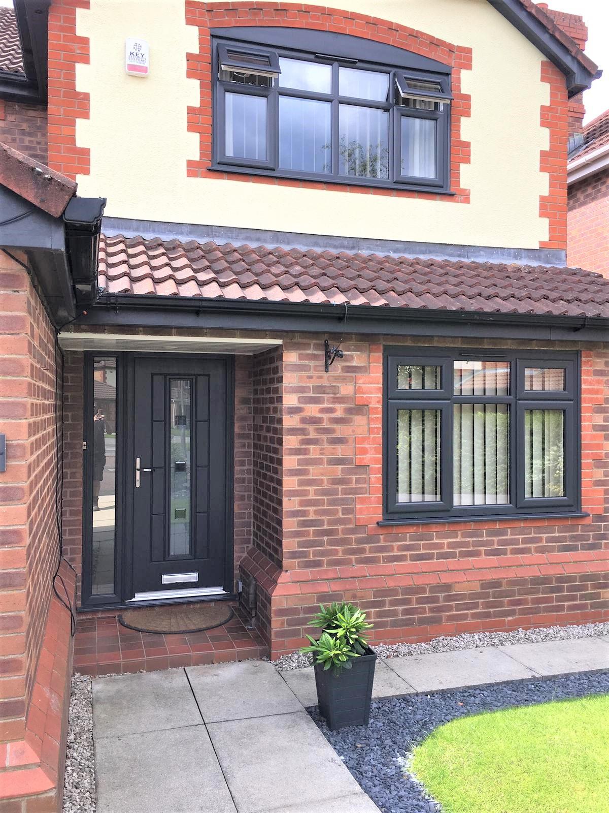New Black Ash Double Glazed Windows & Do