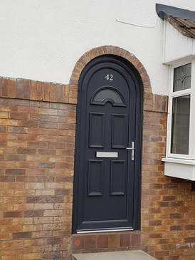 Arched pvc Door installation