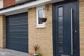 Anthrasite Composite Door to match Garage Door