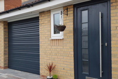 Anthrasite Composite Door to match Garage Door