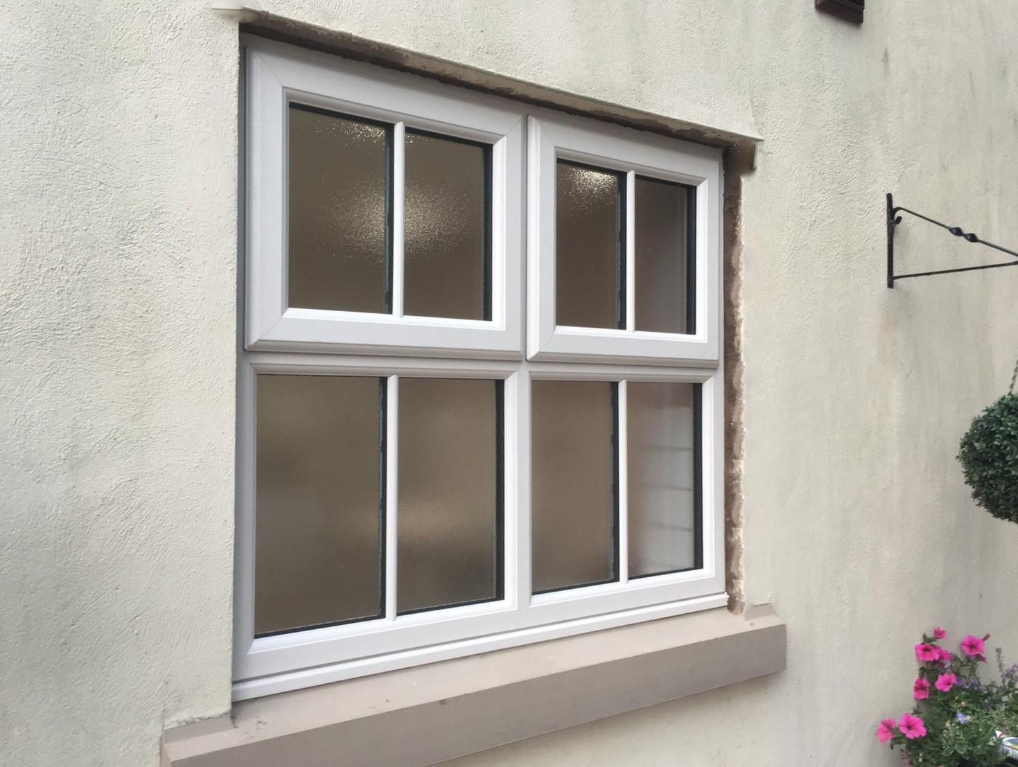 Casement window in render