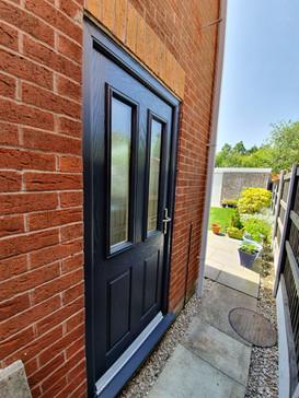 High Security Anthrasite Composite door