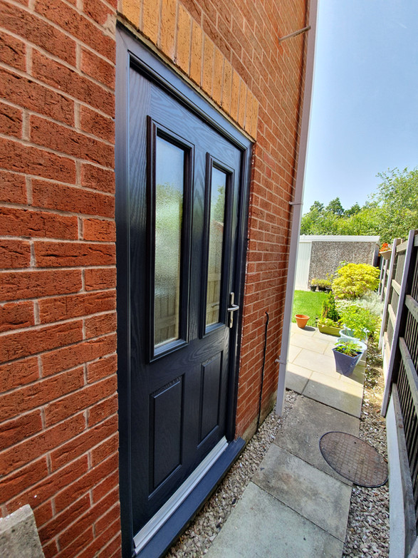 High Security Anthrasite Composite door