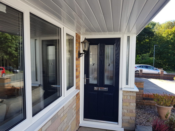 Stunning Blue Porch Door and Windows Installed in Wigan