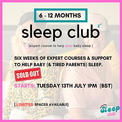 Sleep Club Tuesday 13th July 1pm (BST)