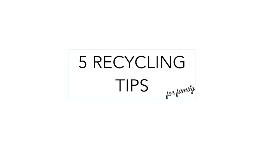 Recycling Tips for Family