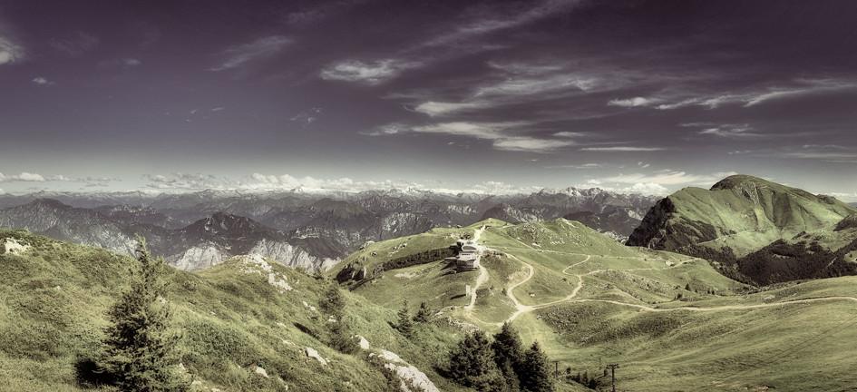 Panorama am Monte Baldo