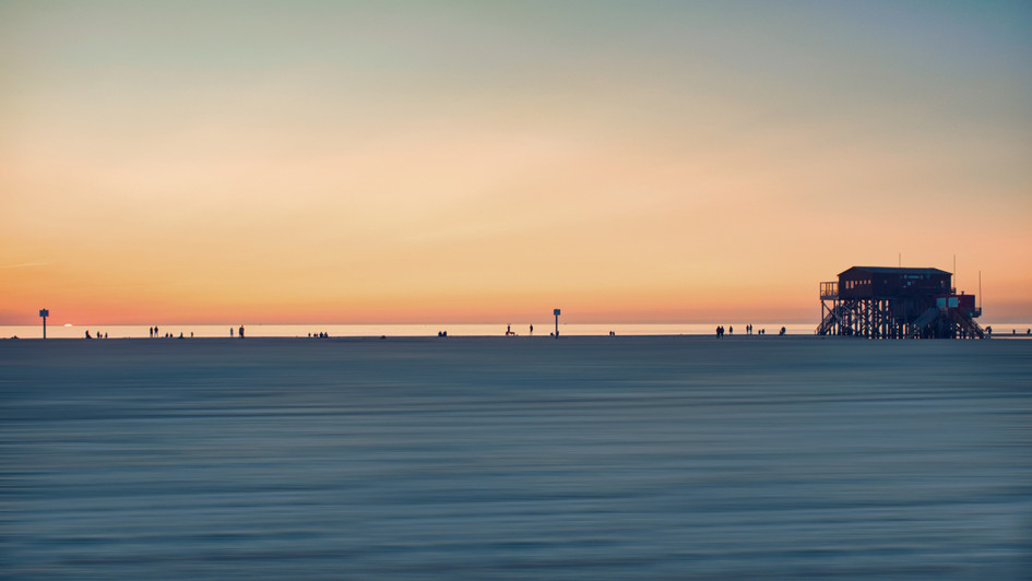 Strandleben Am Abend