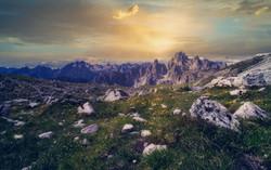Abend in den Alpen