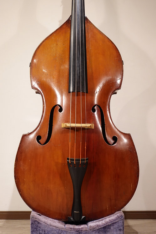 German Old Germany Bass  Round back Yellow varnish