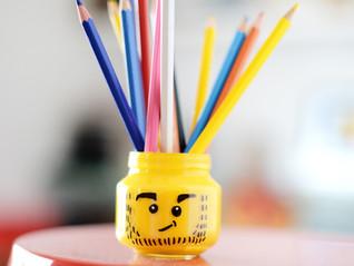Porta lápis de Lego