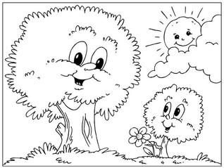 Desenhos para pintar - Dia da Árvore