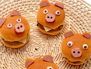 Receita: hambúrguer de porquinho 🐷