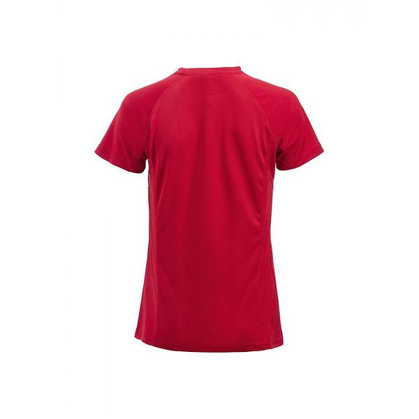 Clique Active T-shirt  Ladies red back-9