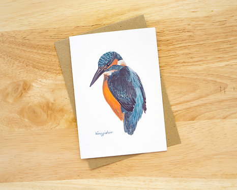 Kingfisher // Blank Card