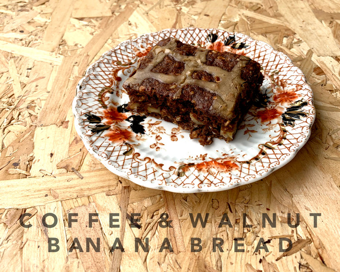 COFFEE & WALNUT BANANA TRAYBAKE