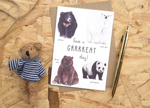 Have a Great Day // Bear Birthday Card