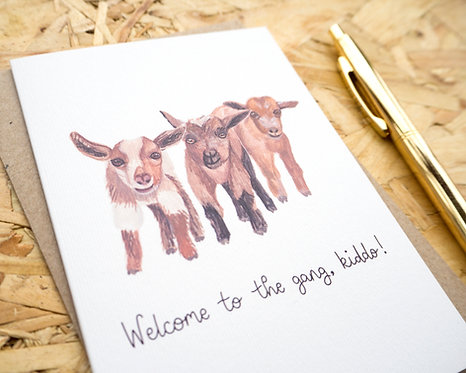 Welcome to the Gang Kiddo // New Baby Card