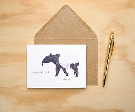 Lots of Love Tapir // Love Card