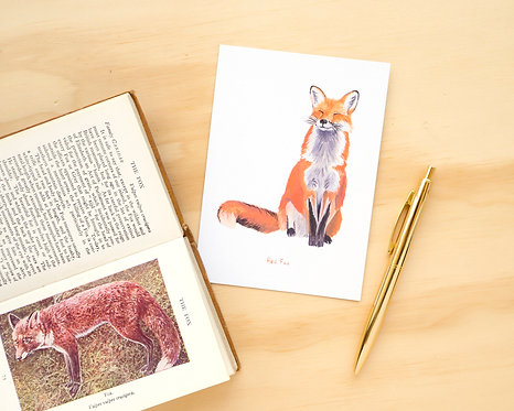 Red Fox Postcard // Mini Print