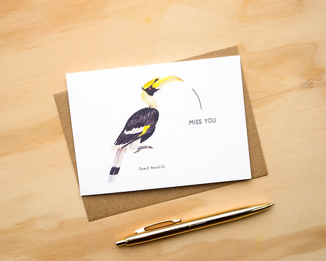Miss You Hornbill // Miss You Card