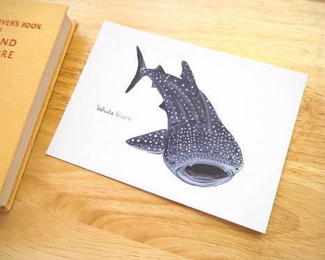 Whale Shark Postcard // Mini Print
