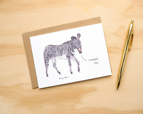 Thanks Pal Zebra // Thank You Card