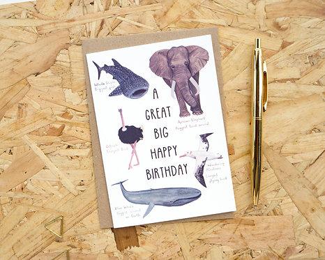 A Great Big Happy Birthday // Birthday Card