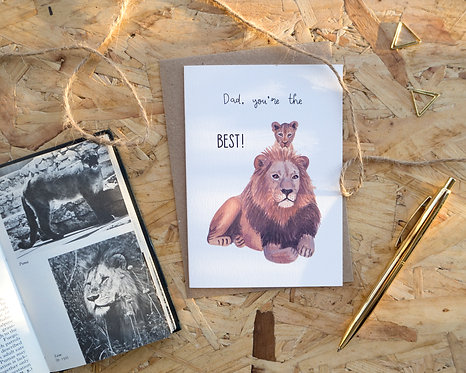 Dad You're The Best // Lion Father's Day Card