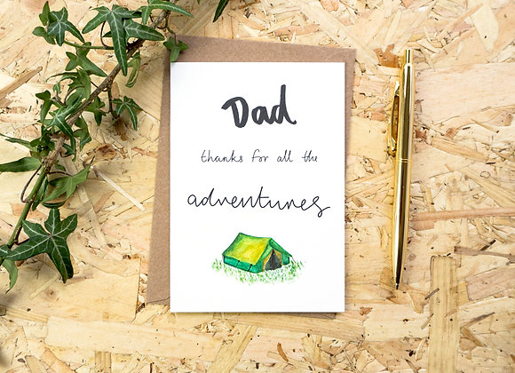 Dad Thanks for all the Adventures // Father's Day Card