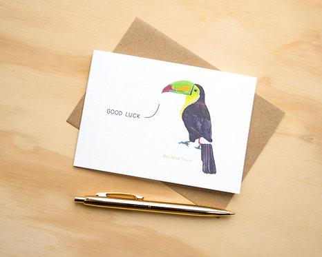 Good Luck Toucan // Good Luck Card