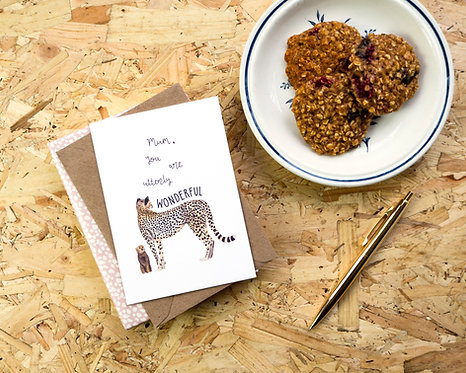 Mum You Are Utterly Wonderful // Cheetah Mother's Day Card