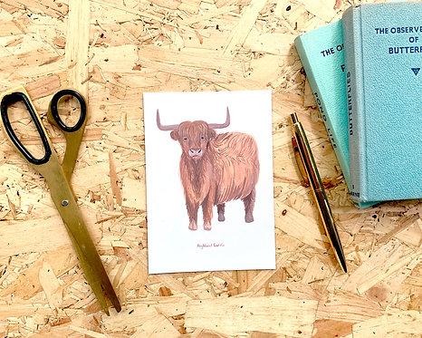 Highland Cattle Postcard // Mini Print