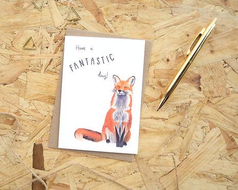 Have a Fantastic Day // Fox Birthday Card