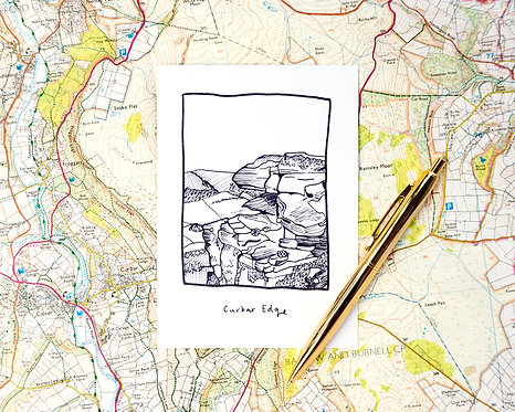 Curbar Edge Postcard // Mini Print