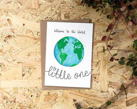 Welcome to the World Little One // New Baby Card