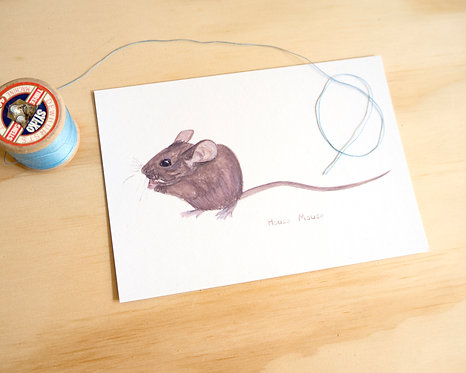 House Mouse Postcard // Mini Print