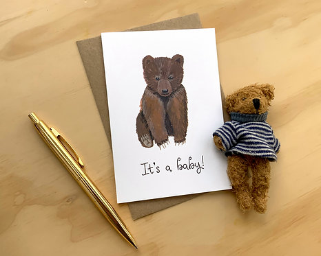 It's a Baby (Bear) // New Baby Card