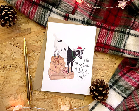 The Magical Yuletide Goat Christmas Card
